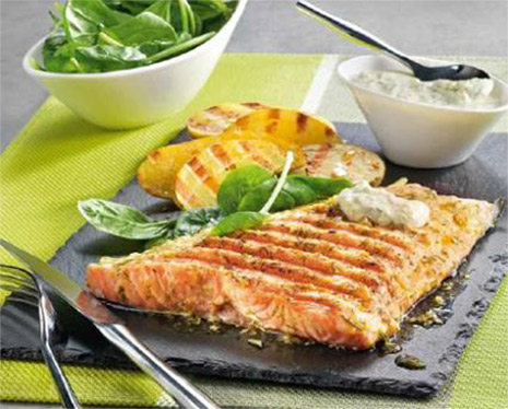 Salmon With Dill Cream Sauce